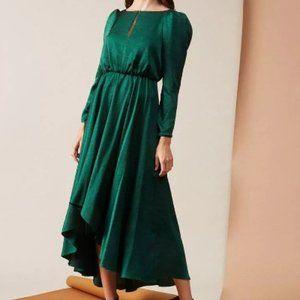 Sachin & Babi Emerald Crushed Silky Willah Dress 2